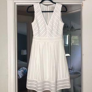 Jcrew white eyelit dress